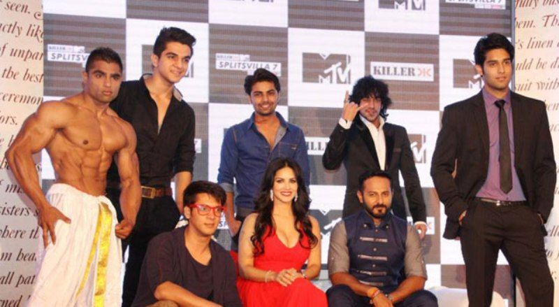 Ashwini Koul with the participants and hosts of MTV Splitsvilla