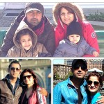 Gippy with wife & kids