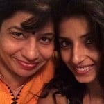 Harshita Gaur with her mother
