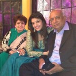 Kajal Aggarwal with her parents