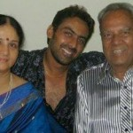 Karthik Jayaram with his parents