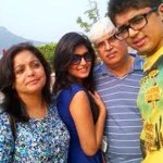 Kritika Kamra with her family