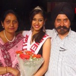 Navneet Kaur Dhillon with her parents
