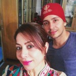 Param Singh with his mother