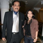 Amrita Rao with her father