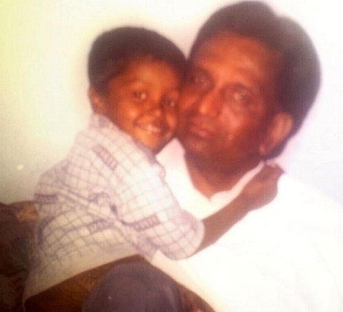 Hardik Pandya's childhood picture with his father Himanshu Pandya