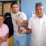 Irfan Pathan with his parents