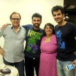 Karan V Grover with his family