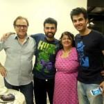 Karan V Grover with his family