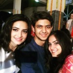 Kriti Kharbanda with her brother and sister