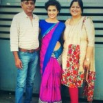 Kriti Kharbanda with her parents