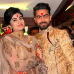 Ravindra Jadeja with his wife Reeva Solanki