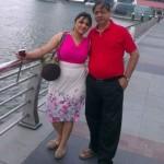 Rinku Worah with her father