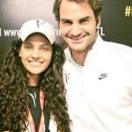 Saiyami Kher with Roger Federer