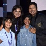 Shaan with his wife and children
