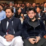 Shahid Afridi with his cousin brother