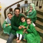 Shahid Afridi with his children