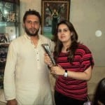 Shahid Afridi with his wife