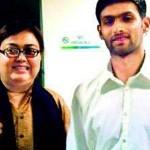 Shoaib Malik with his Ex-wife Ayesha Siddiqui