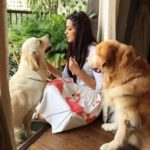 Sonali Bendre, a dog lover