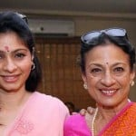Tanishaa Mukerji with her mother