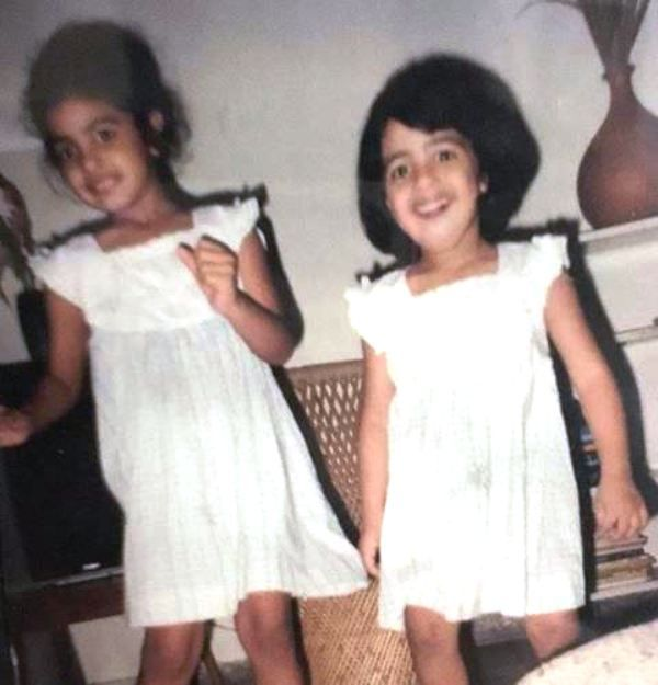 A Childhood Picture of VJ Bani and Her Sister