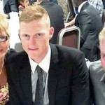 Ben Stokes with his parents