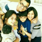 Dipika Kakar with her elder sister, brother-in-law Vinod, and nephew Pranav
