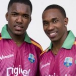 Dwayne Bravo with his brother