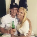 Joe Root with Carrie Cotterill