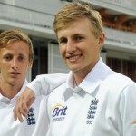 Joe Root with his brother