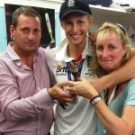 Joe Root with his parents