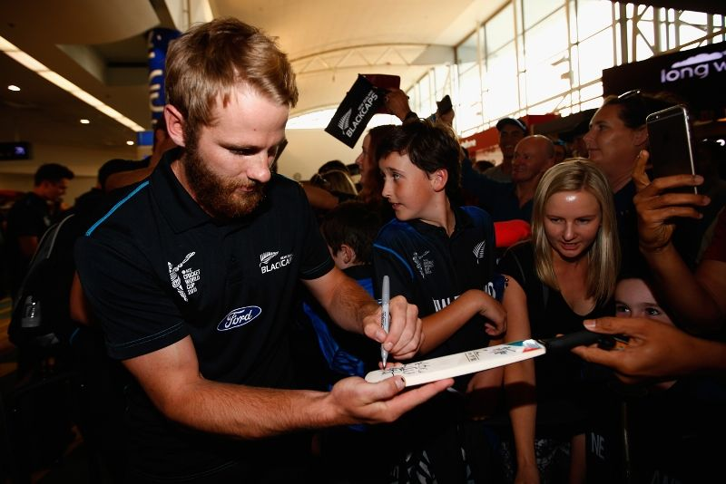 Kane Williamson Giving Autographs