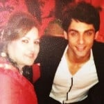 Karan Wahi with his mother