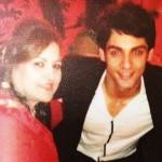 Karan Wahi with his mother