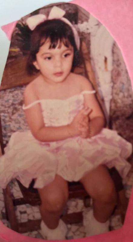Kiara Advani In An Off Shoulder Dress in Her Childhood