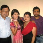 Kratika Sengar with her parents and brother Anuraag Sengar Vedant