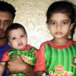 Mashrafe Mortaza with his children