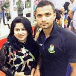 Mashrafe Mortaza with his wife