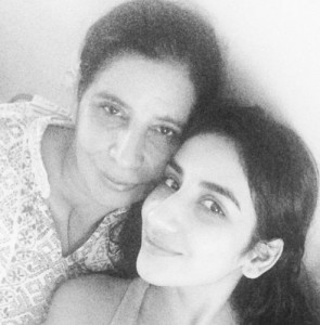 Parul Gulati with her mother