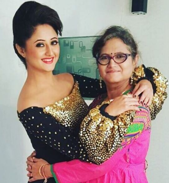 Rashmi Desai with her mother