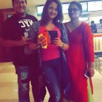 Rashami Desai with her mother and younger brother