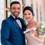 Robin Uthappa with his wife
