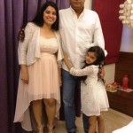 Ruhanika Dhawan with her parents