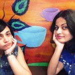 Sneha Ullal with her sister