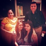 Sumona with her mother, father and cousin sister Shreya