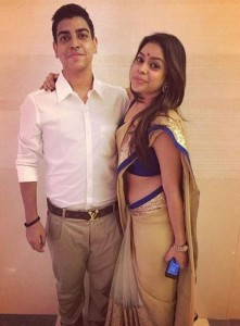 Sumona with her younger brother Shivargha
