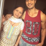 VIn Rana with his mother