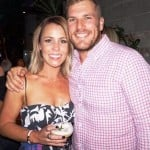 Amy Griffiths with her husband Aaron Finch