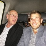 Aaron Finch with his father